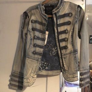 Guess drummer style denim jacket